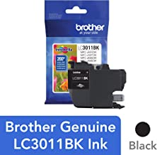 Brother Printer LC3011BK Singe Pack Standard Cartridge Yield Up to 200 Pages LC3011 Ink Black