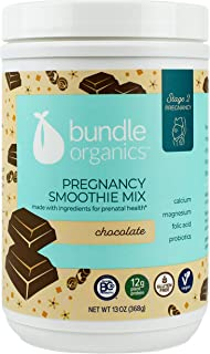 Bundle Organics Pregnancy Smoothie Mix, Stage 2 Pregnancy, Chocolate, 13 Ounce