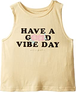 Good Vibe Day Cut Off Tank Top (Toddler/Little Kids/Big Kids)