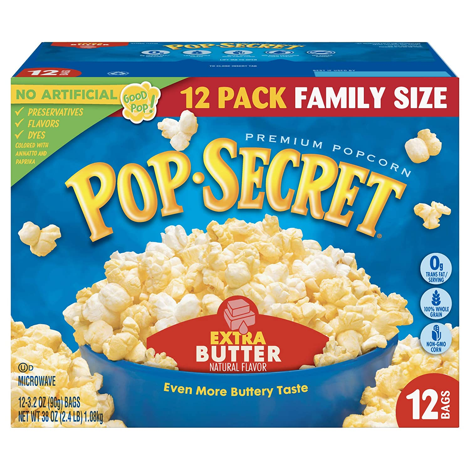 Pop Secret Tucson Mall Popcorn Extra Butter Microwave Bags 3.2 Max 67% OFF 12Count Oz