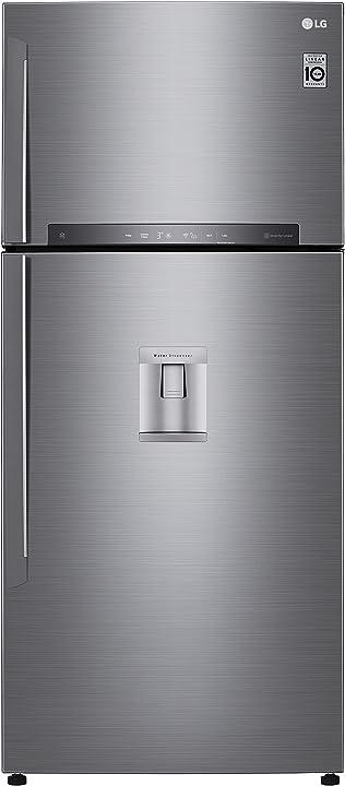 Frigorifero smart doppia porta total no frost con congelatore, 509 l, 43 db, tecnologia multi air flow lg GTF744PZPZD