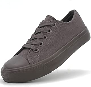 Full 90 Kid's Unisex Canvas Shoes Sneakers Toddlers Fashion Lace Up Boys Girls Solid Colors Vulcanized Rubber Low Top Classic Tennis