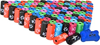 Downtown Pet Supply 2200 Pet Waste Bags, Dog Waste Bags, Bulk Poop Bags with Leash Clip and Bone Bag Dispenser - (2200 Bag...