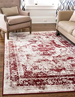 Unique Loom 3134086 Area Rug, 5' x 8' Rectangle, Burgundy