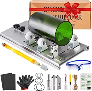 Glass Bottle Cutter Kit, Bottle Cutter DIY Machine with Size Marking for Cutting Round, Square, Oval Bottles and Mason Jar...