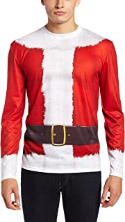 Men's Sublimated Faux Holiday Long Sleeve T-Shirt