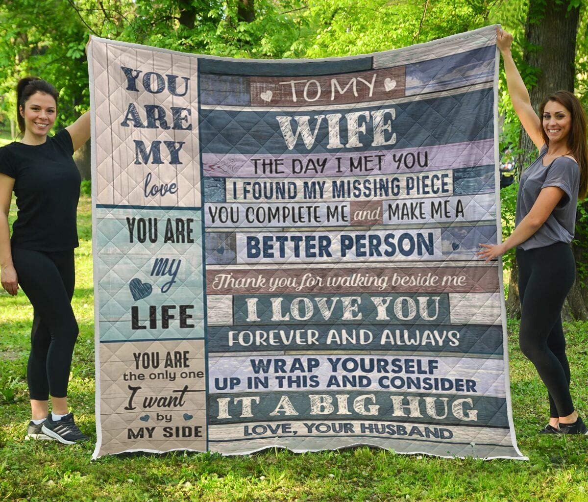 to My Wife Better Gorgeous Person Blanket Set Bedding Alternative dealer Quilt Co