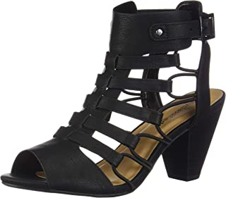 Womens Fashion Awesome Gladiator Strappy Chunky Block Heel Synthetic Lightly Padded Insole Sandals