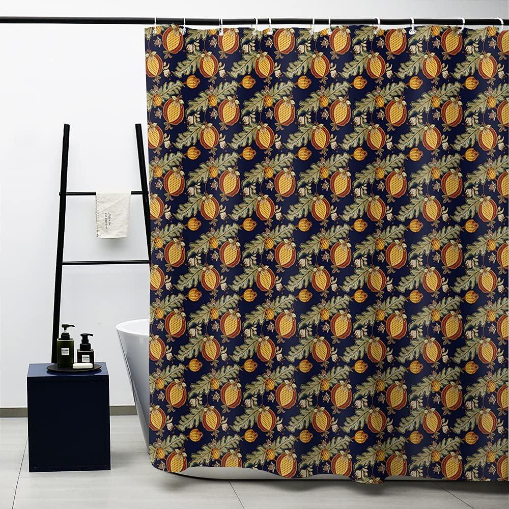 Dedication Obal William Morris Shower Max 73% OFF Curtain Le Original Design Navy Gold