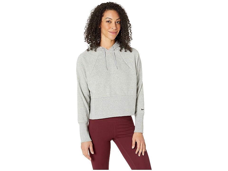 Nike Studio Pullover Versa Hoodie (Dark Grey Heather/Black) Women