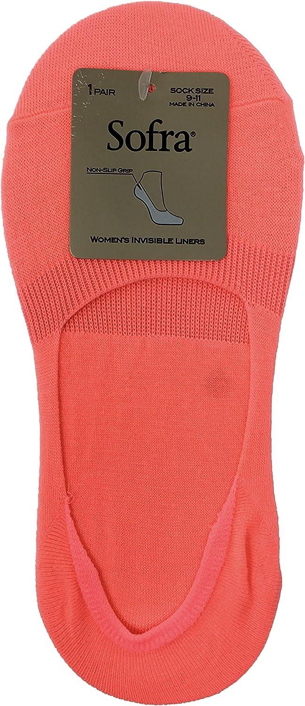 Sofra Women's Ultra Low Liner Socks