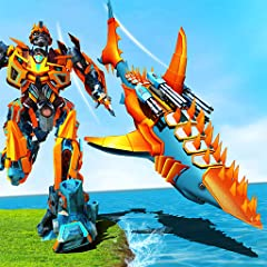Features in Transforming Robot Shark Game – Robot transformation: Detailed 3D environment and realistic robo shark & robot whale models Addictive game play from robot fish games Robot transform gameplay with real robot fighting Realistic sounds & ani...