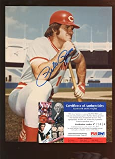 pete rose autographed picture