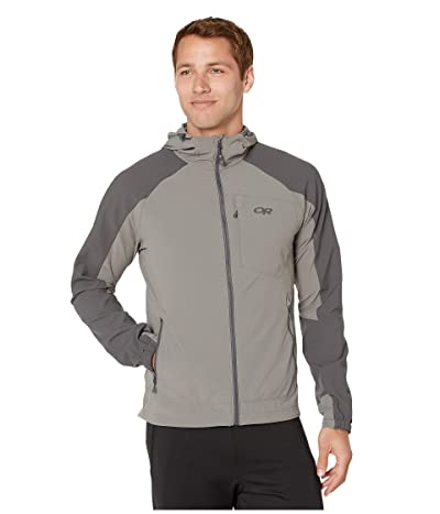 Outdoor Research Ferrosi Hooded Jacket (Pewter/Storm) Men