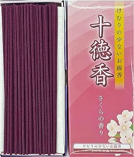 Jittoku-KOH Incense Sticks (220sticks), 14 inches Long, Rich Aroma, Less Smoke, Japanese Quality (Cherry Blossoms)