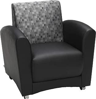OFM InterPlay Series Single Seat Chair, in Nickel/Black