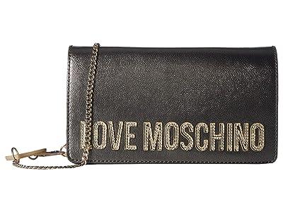 LOVE Moschino Square Logo Belt Bag (Fucile) Handbags