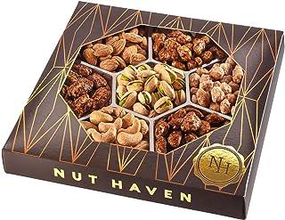 Holiday Christmas Gift Basket - Fresh Sweet & Salty Dry Roasted Gourmet Nuts Gift Basket - Edible Arrangement Food Gift Ba...
