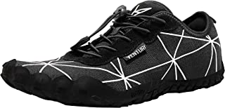 Zero Barefoot Trail Running Shoes - Minimalist Runners with Wide Toe Box, Zero Drop Sole and Odor-Free Insole with Real Silver for Men and Women