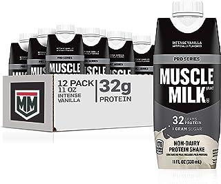 Sponsored Ad - Muscle Milk Pro Series Protein Shake, Intense Vanilla, 32g Protein, 11 Fl Oz, 12 Pack