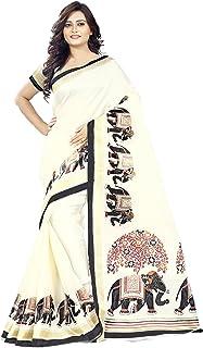 Jaanvi fashion Silk Saree with Blouse Piece