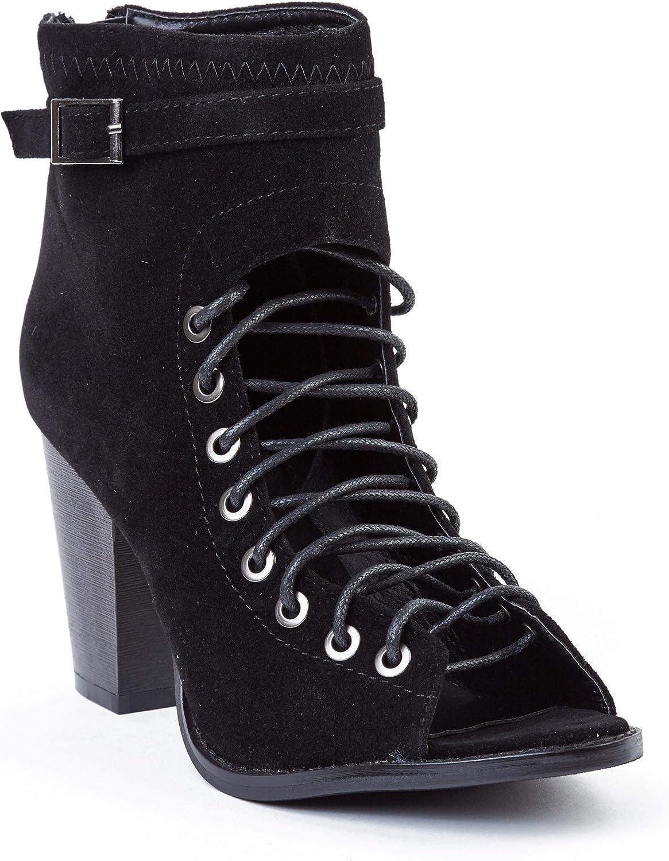 Yoki Women Suede High Hills Boots