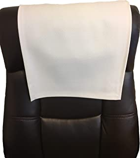 """luvfabrics White Champion 14""""x30"""" Recliner Protector Sofa Loveseat Chaise Theater Seat, RV Cover, Chair Caps Headrest Pad, Recliner Head Cover, Furniture Protector"""