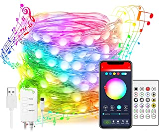LED Fairy Lights,Smart WiFi Led String Lights 10M, Compatible with Alexa and Google Home, App Control,Music Sync,100LED RG...