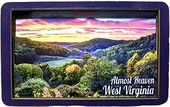 Almost Heaven West Virginia Sunset Artwood Fridge Magnet