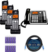 $219 » Motorola ML25260 2-Line Corded Phone with Digital Answering System Bundle with 3-Pack of ML25055 DECT 6.0 Cordless Handset...