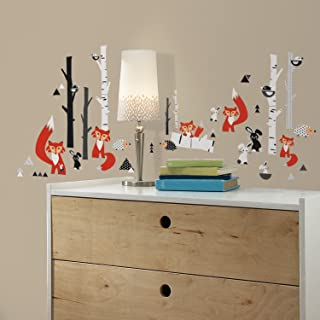 RoomMates Fox Forest Peel And Stick Wall Decals,Multicolor
