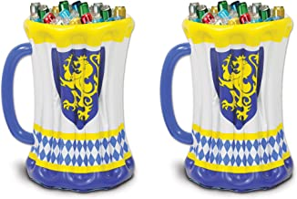 Beistle S54079AZ2 Beer Stein Coolers, Blue/White/Yellow