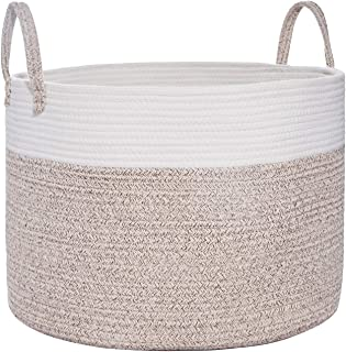 Large Cotton Rope Basket | Wide 20
