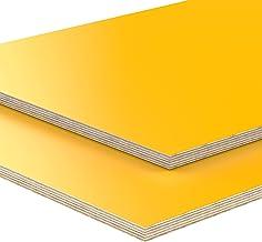 18 mm multiplex gesneden geel melamine gecoat lengte tot 200 cm multiplexplaten gesneden 40x60 cm geel