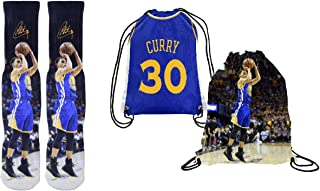 Forever Fanatics Curry 30 Ultimate Basketball Fan Gift Set Bundle ✓ Curry 30 Crew Socks Sizes 6-13 ✓ Gift Packaging in Curry 30 Picture Backpack