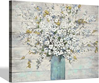 Abstract Flower Painting Wall Art:Bouquet in Vase Canvas Picture Hand Painted Artwork for Living Room (40'' x 30'' x 1 Panel)
