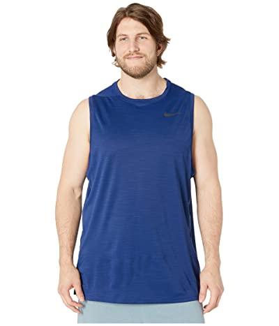 Nike Big Tall Superset Top Tank (Blue Void/Black) Men