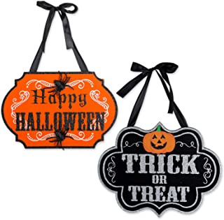 DII Indoor and Outdoor Wood Fall Halloween Hanging Door Decorations and Wall Signs,..