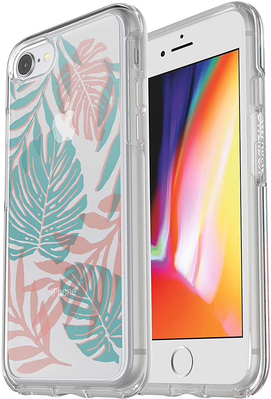 OtterBox Symmetry Series Slim Case for iPhone 8 & iPhone 7 (NOT Plus) Non-Retail Packaging (Easy Breezy)