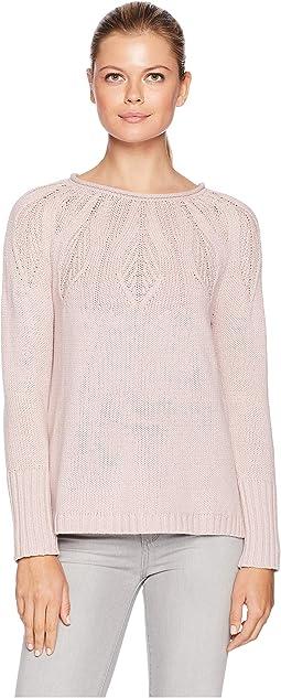 Cotton Blend Long Sleeve Sweater