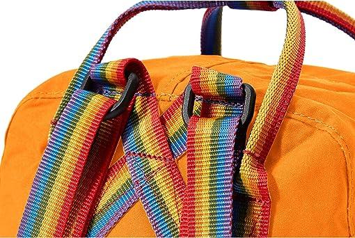Burnt Orange/Rainbow Pattern