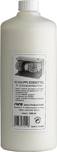 Saro Fluide Chaussures Crème Cooking Entretien chaussures/Contenu 1L/Incolore–Utilisable donc pour toutes les coul...