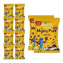 Slurrp Farm Healthy Snacks For Kids | Mighty Puff, Choco Ragi Flavour, 20g (Pack of 10)