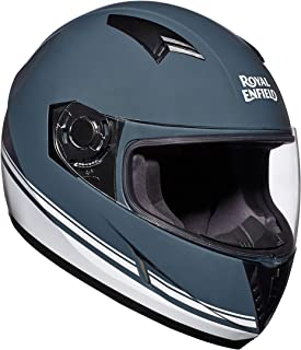 Royal Enfield Gloss Grey Full Face Helmet Size (M)58 CM (RRGHEI000101)