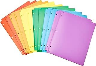 pocket folders with 3 hole punch