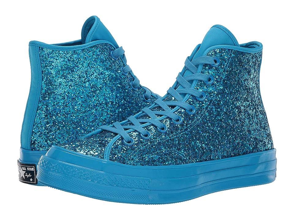 Converse Chuck 70 Glitter - Hi (Blue Hero/Blue Hero/Blue Hero) Women's Lace up casual Shoes