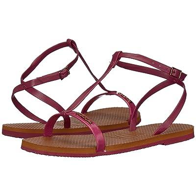 Havaianas You Belize Flip Flops (Beet) Women