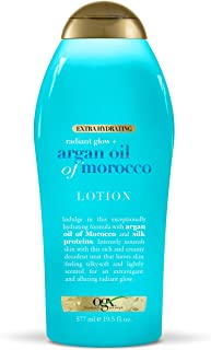 OGX Radiant Glow + Argan Oil of Morocco Extra Hydrating Body Lotion for Dry Skin, Nourishing Creamy Body & Hand Cream for ...