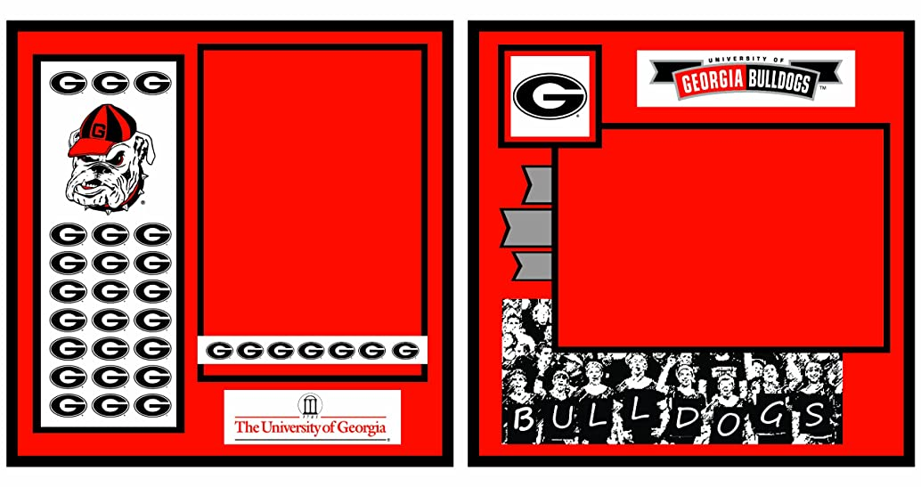UNIFORMED University of Georgia 2-Page Layout Decorative Paper, 12 by 12-Inch