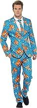 Smiffys, Herren Goldfisch Anzug Kostüm, Jackett, Hose und Krawatte, Größe: L, 43530